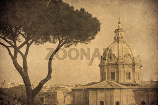 Vintage image of Rome, Italy
