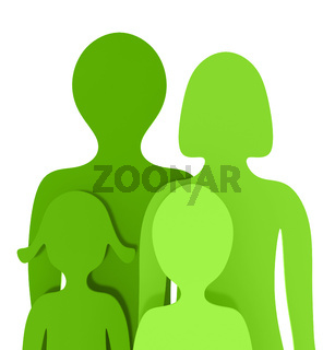 Die kleine grüne Familie