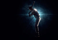 Professional baseball player in the spotlight