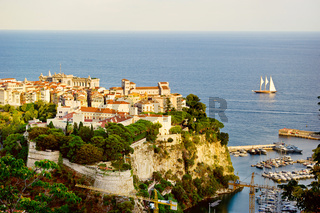sailing yachts in bay of Monaco