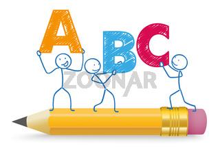 Stickman ABC Pencil