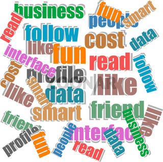 Internet Marketing concept words stickers set