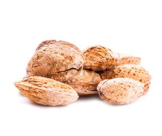 Unpeeled almond isolated