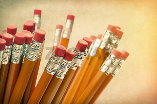 Lead pencils against a vintage  background