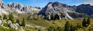 Panorama in den Dolomiten