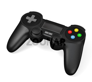 Gamepad joypad for video game console isolated on white background