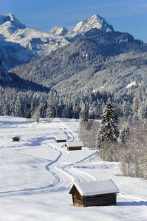 winter landscape nearby castle Elmau in Bavaria