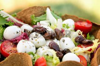 Salad with Mozzarella Cheese