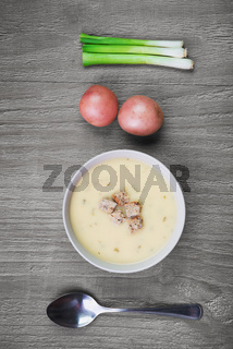 fresh creamy potato soup