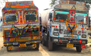 ornate trucks in india
