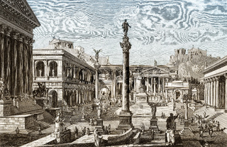 Forum Romanum in ancient Rome