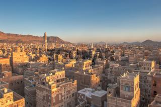 Panorama of Sanaa, Yemen