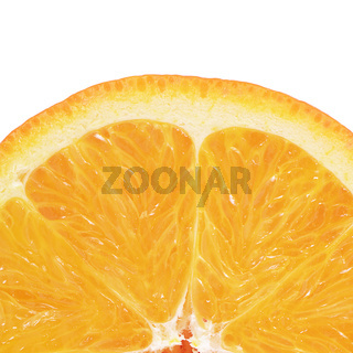 Bright orange isolated on white background