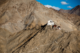 Buddhist monastery Namgyal Tsemo. Leh. India