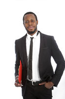 Successful confident African businessman