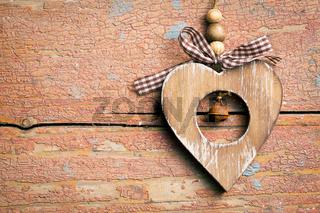 valentine wooden heart
