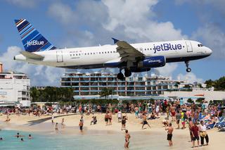 jetBlue Airbus A320 Landung St. Maarten