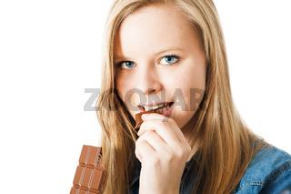 Mädchen mit Schokolade
