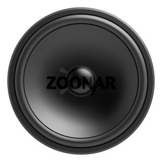 black loudspeaker isolated on white background
