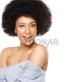 Vivacious beautiful African American woman