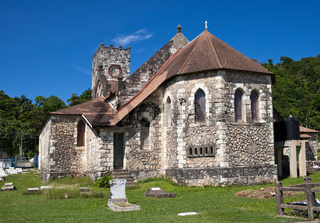 Ancient colonial church. Jamaica