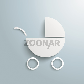 White Paper Baby Buggy