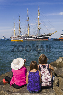 Hanse Sail 2008, Warnemuende, Rostock, Mecklenburg-Vorpommern, Deutschland
