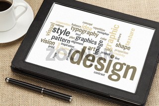 graphic design word cloud