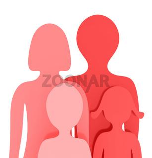 Die kleine rote Familie
