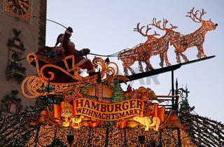 Weihnachtsmarkt in Hamburg, christmas market in Hamburg