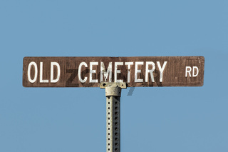 Old Cemetery Road Sign