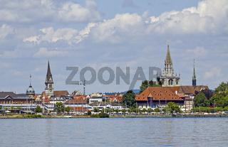Konstanz mit Konzilgebaeude und Münster