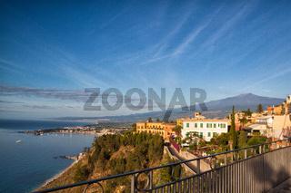 Sunrise in Taormina on Sicily