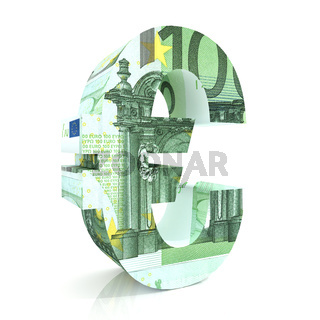 Euro Sign with euro currency