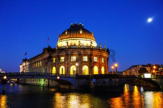 Bode museum in Berlin at night