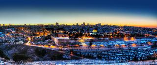 Old City in Jerusalem, Israel panorama
