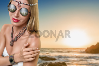 Young fashion woman with jewelry