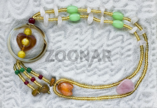 Necklace from the  glass beads