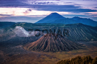 Mount Bromo shortly after sunrise