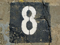 8 - weathered number