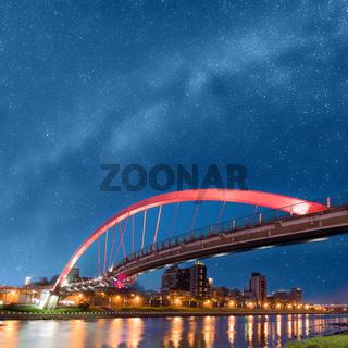 bridge under stars