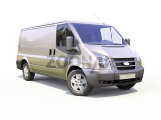 Gray commercial delivery van