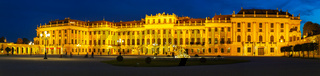 Schonbrunn palace in Vienna in the evening