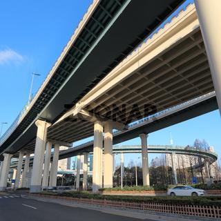 viaduct traffic background