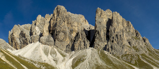 panorama landscape at alps dolomites