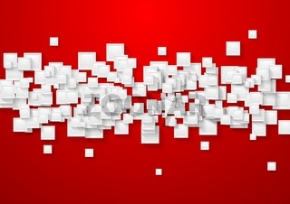 White and red abstract tech background