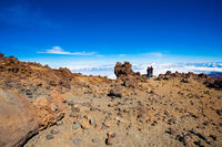 Couple on the top of Teide volcano
