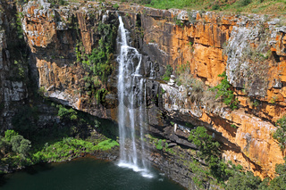 Berlin Falls an der Panorama Route, Mpumalanga, Südafrika, Berlin falls at Panorama route in South Africa