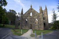 Ancient Church IN Port Arthur Tasmania Australia