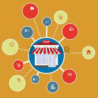 Infographic Circles Flat Shop PiAd